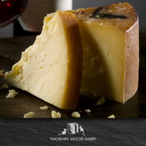 Thornby Moor Dairy-Little-waxed-Cumberland-oak smoked wedge